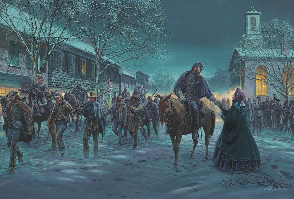 Stonewall Jackson, les adieux à sa femme.  FINI 220_2