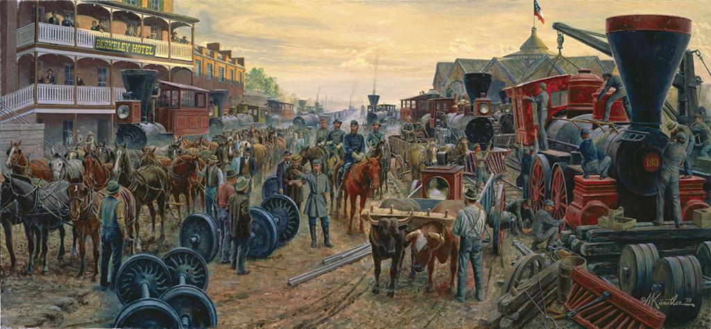 VA HeavyTraffic on the Valley Pike Civil War Art By Mort Kunstler Strasburg