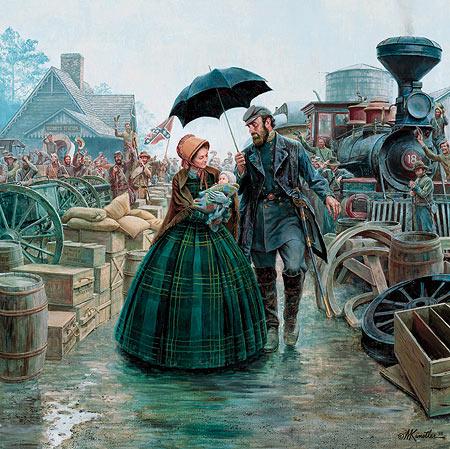 Stonewall Jackson, les adieux à sa femme.  FINI 67_2