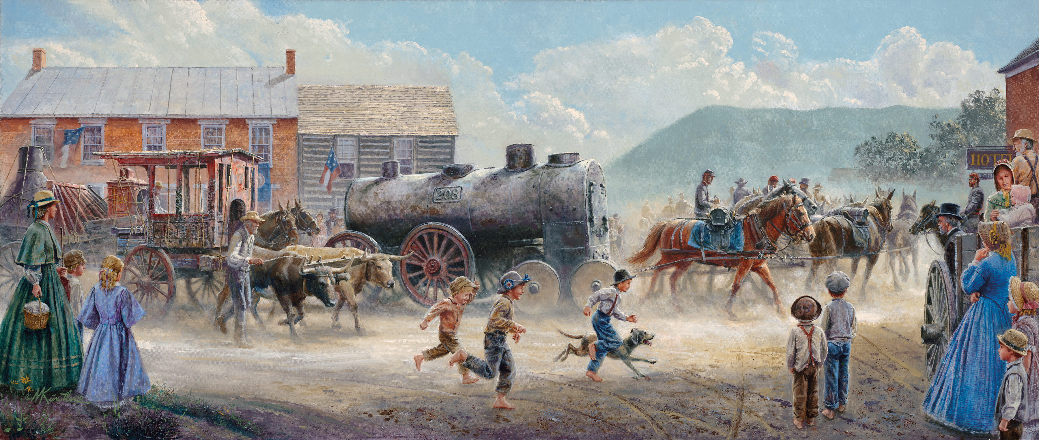 Art early american easy peasy all in one homeschool look at this one painting in particular sciox Images